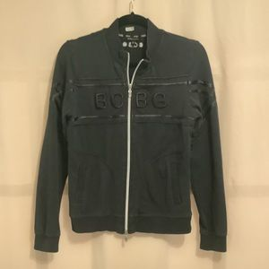 BGBG zippered jacket with front embroidered lettering and ribbon details